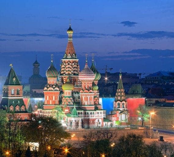 Russe Cathédrale de Vasily sur la Place Rouge à Moscou