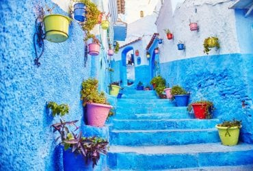 belle ville blue rue arabe