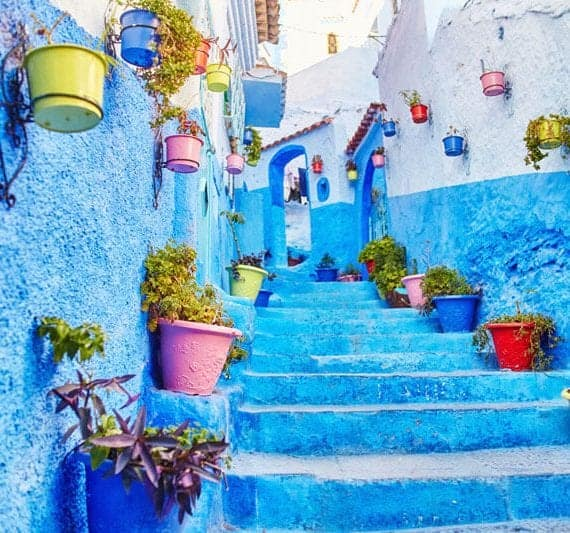belle ville blue rue arabe